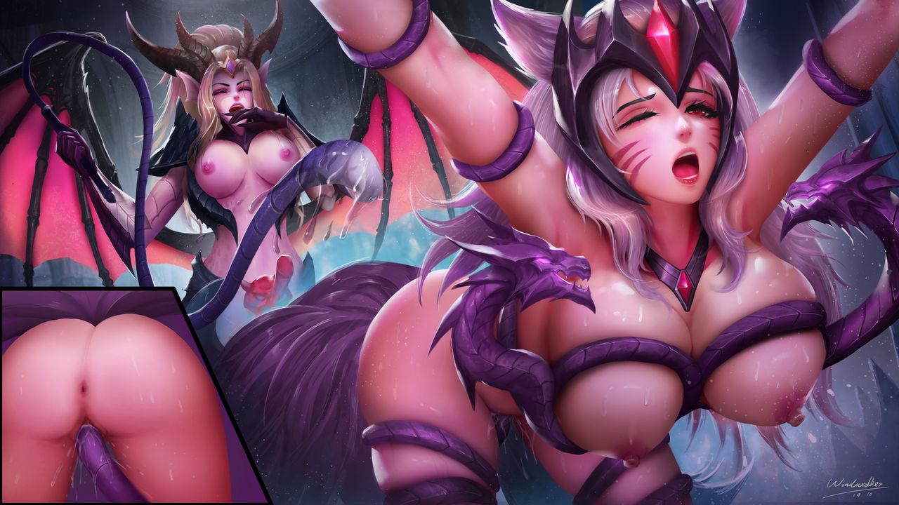 Ahri League_of_Legends Zyra windwalker